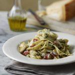 artichoke & pancetta pasta, pasta, Italian food, food