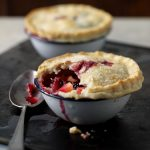 apple & blackberry pies, fruit pies, pies, desserts, puddings, b