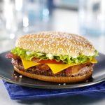 burger, beef burger, McDonald's burger, McDonald's, food, fast f
