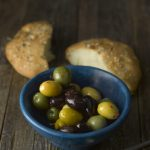 pita with olives