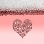 pink champagne bubbles heart