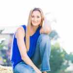 Portrait of Kerri Walsh – Beach Volleyball gold medalist – pregnant with her thrid child