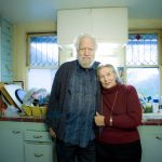 Portrait of S. Shulgin, the inventor of MDMA (the drug known as Ecstasy), taken in his home with his wife for an editorial magazine.