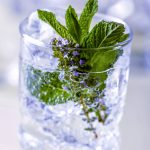Gin tonic with mint and lime