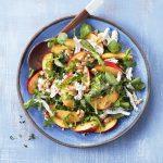 Chicken, nectarine and walnut salad