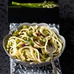 Pasta With Asparagus, Scallion, Pine-nuts and Sun-dried Tomatoes