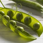 Close up of peas in pod