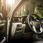 Toyota 4Runner interior on location.
